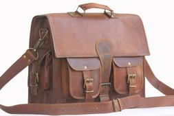 """18"""" Best Leather Unisex Leather Messenger Bag for Laptop Boo"""