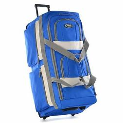 """33"""" Large Rolling Wheel Tote Duffle Bag Travel Luggage Suitc"""