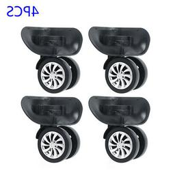 4pcs Universal Suitcase Luggage Caster Replacement Wheels Fo