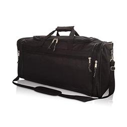 "DALIX 25"" Extra Large Vacation Travel Duffle Bag in Black"