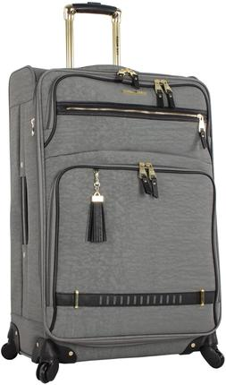Steve Madden Designer Luggage - Checked Large 28 Inch Softsi