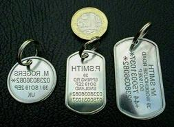 Engraved Personalised Tags Suitcase Luggage ID Tag I.D. Iden