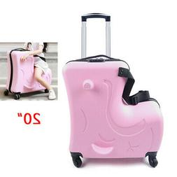 """Kids Luggage Trolley Suitcase 20"""" Carry-On Bag with Wheels T"""