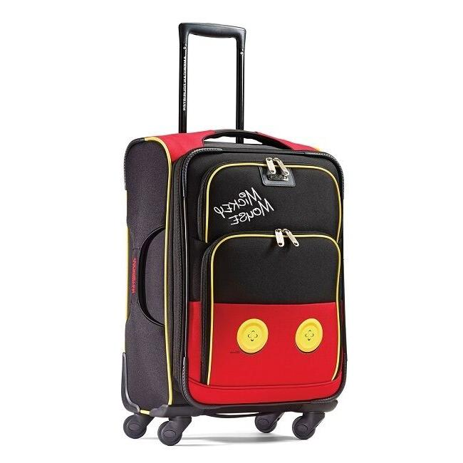 mickey mouse pants spinner suitcase
