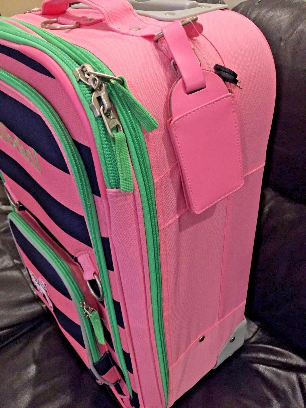 NEW Pottery Fairfax Striped Suitcase Luggage