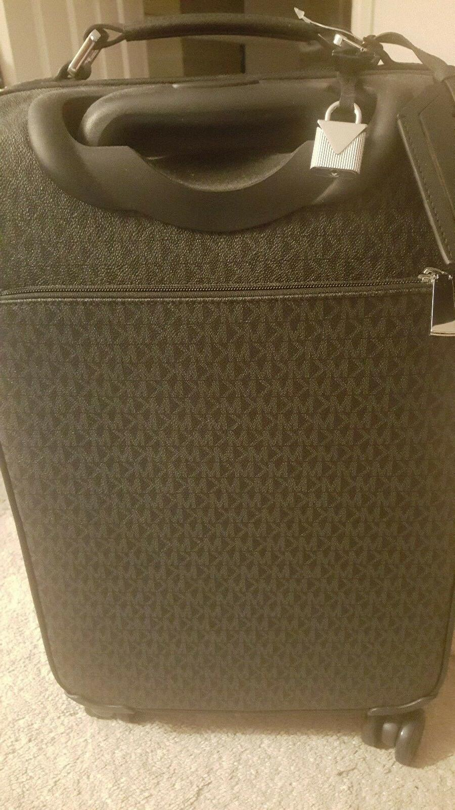 MICHAEL Signature Travel Trolley On 4 Wheel Suitcase NWT