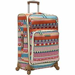 Lily Bloom Large Expandable Design Pattern Luggage With Spin