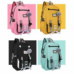 Large school bags for teenage girls usb with lock backpack w