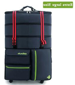 Luggage Duffel Bag Extra Large Spinner Wheels Expandable Blu