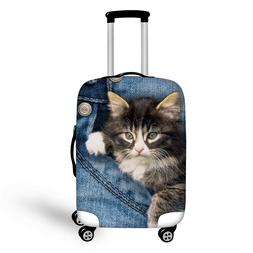 New Cute 3D Animal Cat Luggage Protector Suitcase Cover Larg