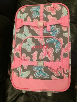 NEW Pottery Barn Kids Mackenzie Large Pink Butterfly Suitcas
