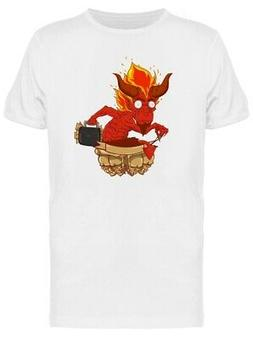 Red Devil Suitcase Ribbon Tee Men's -Image by Shutterstock