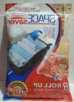 Space Saver 8 x Premium Travel Roll Up Storage Bags for Suit