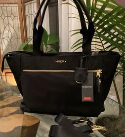 Tumi Voyager Large Nylon Mauren Tote/Shoulder Bag Black Nylo